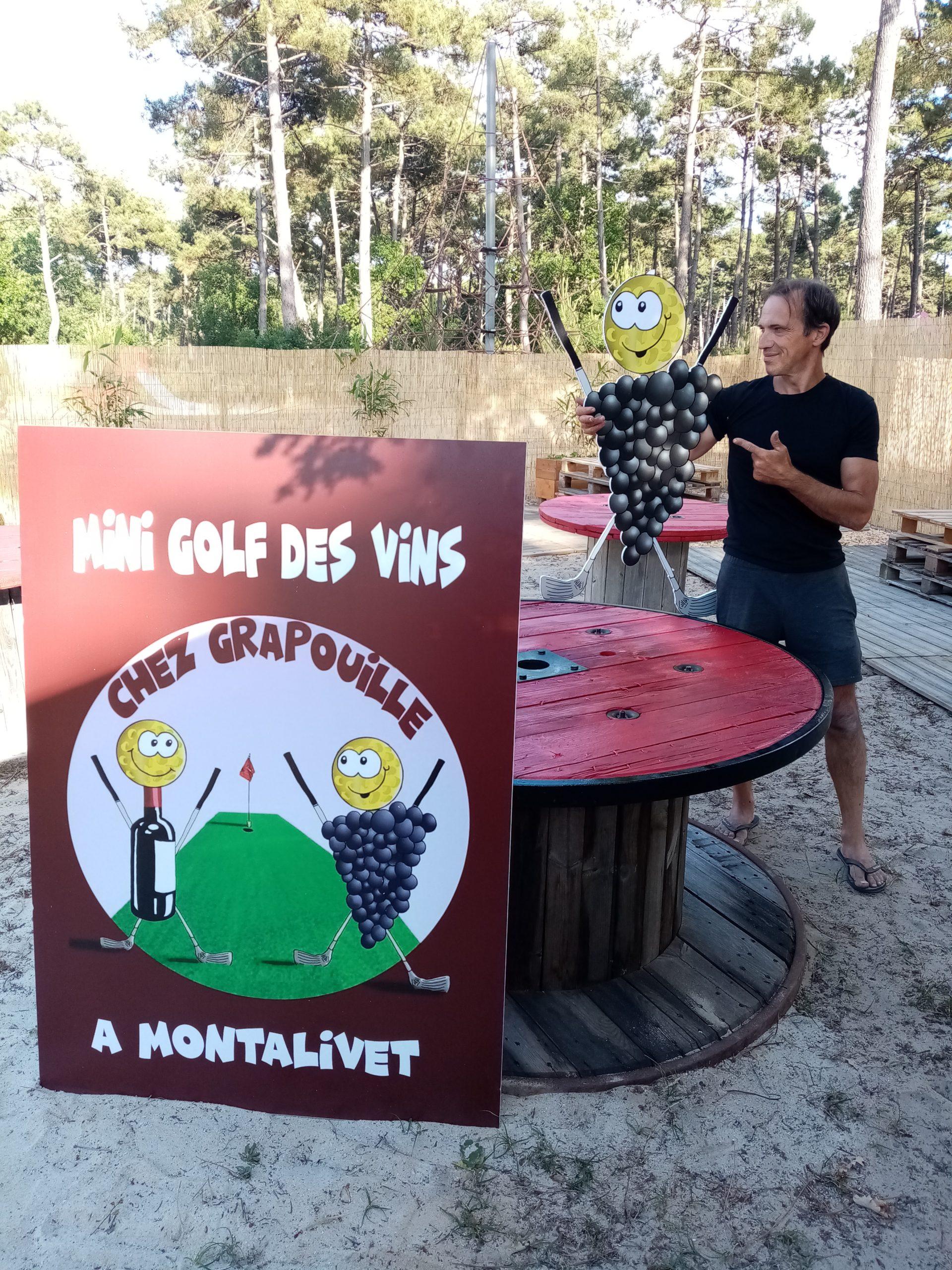 Présentation Minigolf des vins de Patrice Laujac